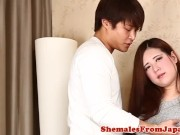 Busty japanese ladyboy assfucked doggystyle