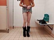 Crossdresser public toilets