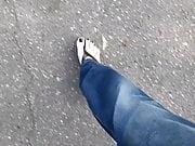 Black Toenail Polish on Perfect Feet