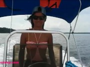 Driving my boat in Bocas Del Toro then Deepthroat Throatpie
